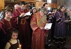 Subdeacon A. komendatov, Archdeacon E. Burbelo, Deacon E. Kallaur and Protodeacon S. Arlievsky